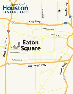 Exciting Eaton Square Houston Map