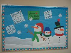 3 snowmen, snowflakes, Jesus loves you 'snow' much!