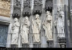 Cologne Cathedral, a jamb sculptures, Gothic