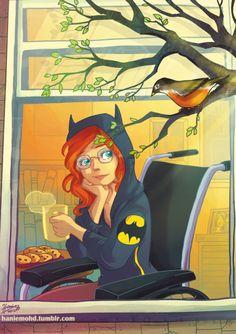 Oracle (aka Batgirl aka Barbara Gordon) by Hanie Mohd Nightwing And Batgirl, Batwoman, I Am Batman, Batman Robin, Gotham Batman, Batman Art, Comic Books Art, Comic Art, Comic Pics