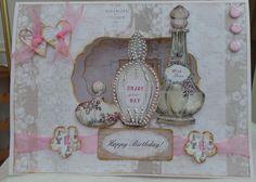 Vintage Ephemera Craftworks cards Craftwork Cards, Vintage Ephemera, Cardmaking, Decorative Boxes, Shabby Chic, Perfume Bottles, Happy Birthday, Inspiration, Card Ideas