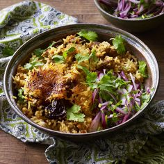 A biryani fit for a queen - use lamb or the traditional goat for this authentic Bangladeshi dish. Indian Food Recipes, Asian Recipes, Indian Foods, Savoury Recipes, Tastemade Recipes, Thing 1, How To Cook Eggs, Deep Dish, Winter
