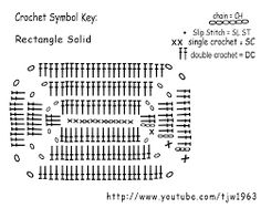 How to Crochet A Rectangle Crochet rectangles are so useful! Bag bases, scarfs, pillow covers,punches, purses, clutches, door mats…etc….all these can be made by using a basic re…
