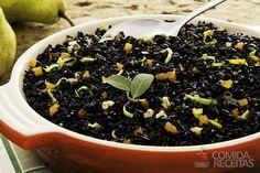 Receita de Arroz preto com damasco e pera em receitas de arroz, veja essa e outras receitas aqui!