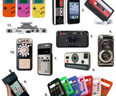 Relive Vintage Tech with These 11 Retro #iPhone #Cases - pretty inexpensive too :)