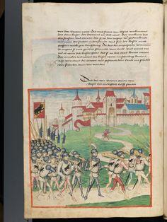 Bern, Burgerbibliothek, Mss.h.h.I.1, f. 182 – Diebold Schilling, Amtliche Berner Chronik, vol. 1