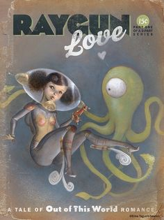 Raygun Love cover design by Erika Taguchi-Newton : Ravengirl, via Flickr