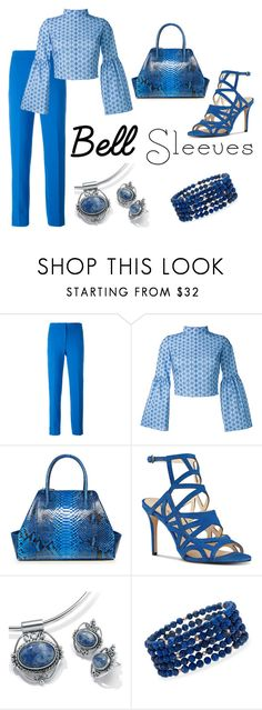 Lapis by lily0906 on Polyvore featuring Daizy Shely, Victoria, Victoria Beckham, Nine West, Palm Beach Jewelry, Ross-Simons, La Perla, Blue, Lapis, designedbyyou and bellsleeves