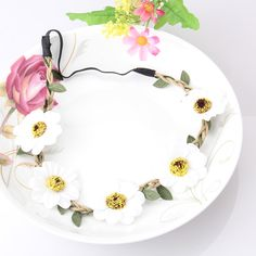 Cheap band sign, Buy Quality headband naruto directly from China headband fall Suppliers: Holesale Boho Style Hair accessories Simulation Paper flower headband for women Elastic Party Headdress Wedding Bride He