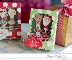 Clothespin Magnet Santa & Reindeer by Betsy Veldman for Papertrey Ink (October 2015)