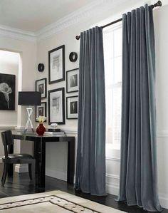 Nice colour scheme. Love the grey curtains