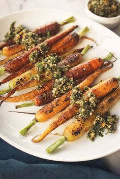 Charred Carrots with Carrot Top Pesto