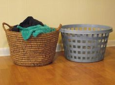 PLARN LAUNDRY BASKET   New Life, New Purpose - basket made entirely from upcycled plastic bags, crochets over ropes of other upcycled plastic bags; amazing