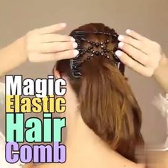 Fashion beautiful hair comb magic ever-changing hairpin wooden beads hair comb This handmade, beaded comb is the newest, hottest hair accessory in the market today! You deserve to feel like a queen. This Magic Hair Comb helps style your Unique Hairstyles, Braided Hairstyles, Magic Hair, Hair Beads, Cute Beauty, Hair Regrowth, Hair Tools, Hair Comb, Wooden Beads