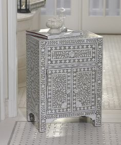 Taj Mother of Pearl Inlay End Table