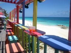 Nippers Beach Bar, Bahamas- this place is a MUST when visiting the islands...