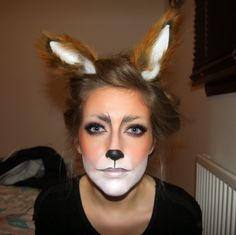 Halloween Face Paint Ideas - The Xerxes Fox Makeup For H. Halloween Face Paint Ideas - The Xerxes Fox Makeup For Halloween Fox Makeup, Animal Makeup, Halloween Make Up, Halloween Party, Halloween Face Makeup, Fox Halloween Costume, Diy Fox Costume, Beaver Costume, Halloween Ideas