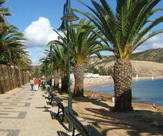 Promenade that runs along behind the beach in Praia da Luz