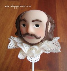 William Shakespeare Cake Pop