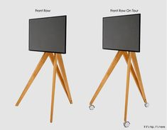 Front Row Wooden Tripod TV Stands From Roomours Tv Stand Tripod, Tripod Lamp, Easel Tv Stand, Save For House, Media Cabinet, New Living Room, Tvs, Front Row, The Row