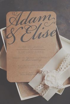 Rustic elegant calligraphy 5x7 invitation. The background comes blank to print on any color paper. I chose to print on kraft paper and did a belly