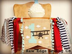 Airplane Birthday Banner Highchair High Chair Vintage Biplane Up Up And Away Blue Gray Grey First One Party Cake Smash Time Flies Photo Prop Burlap Birthday Banners, Air Festival, Vintage Airplanes, High Chair Banner, Vintage Games, Cake Smash, Party Cakes, Photo Props, Birthday Hats