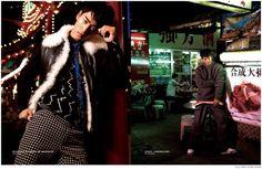 Feng Xiang Models Bold Fall Fashions from Prada, Versace + More for Elle Men Hong Kong image Elle Men Hong Kong Fashion Editorial 006 800x522