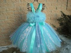 Tutu Dresses and Accessories for Babies and Toddlers by ElsaSieron Frozen Tutu Dress, Pink Tutu Dress, Blue Tutu, Girls Blue Dress, Girls Pageant Dresses, Gowns For Girls, Dress Girl, Blue Dresses, Birthday Tutu