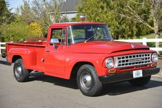 This 1964 International Harvester 1200 is a 3/4 ton pickup with a floating rear axle and claimed-original 304 cubic inch International V8. The transmission is a 4-speed manual sending power to the rear wheels. The selling dealer acquired it from a longterm owner in 1983 and began a restoration in 19