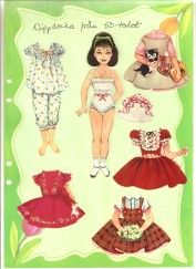 1950s paper doll 1 * The International Paper Doll Society by Arielle Gabriel for all paper doll and paper toy lovers. Mattel, DIsney, Betsy McCall, etc. Join me at ArtrA, #QuanYin5 Linked In QuanYin5 YouTube QuanYin5! Vintage Paper Dolls, Antique Dolls, Paper Toys, Paper Crafts, History Of Paper, Vintage Playmates, Newspaper Paper, Vintage Wardrobe, All Paper