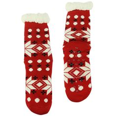 Forfoot Women's Winter Warm Thermal Fleeced Lined Knit Holiday Fuzzy Slipper Socks with Grippers *** Visit the image link more details.