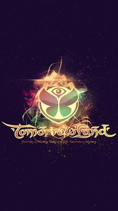 Tomorrowland 2014 Electronic Music Festival Logo iPhone 5 Wallpaper