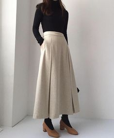 54 Gorgeous Long Skirt Outfits for Working Women – Hijab Fashion 2020 Long Skirt Outfits, Casual Dress Outfits, Business Casual Outfits, Mode Outfits, Outfits For Teens, Long Skirts, 60 Fashion, Fashion 2020, Modest Fashion