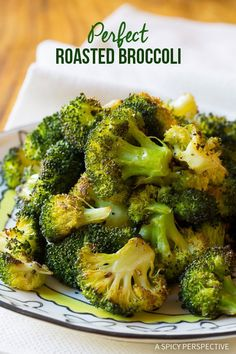 The Perfect Roasted Broccoli Recipe | ASpicyPerspective.com