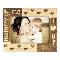 Mothers Day Gift Ideas-Mommy and Me Frame. Free shipping. person framewood, mothers day, framewood engravedfre, mother day gifts, gift ideasmommi