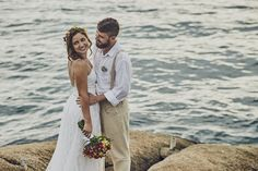 ensaio de noivos Wedding Dresses, Fashion, Wedding On The Beach, Grooms, Wedding Shot, Couple, Vestidos, Events, Bridal Dresses