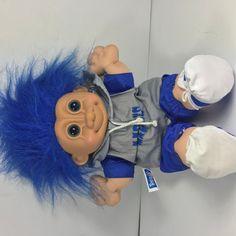"Vintage Russ Troll Kidz Team NFL Soft Body 11"" Troll Detroit Lions #Russ"