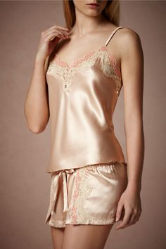 Aren't these pretty PJ's? I like that they are beautiful and classy at the same time :) Amaranth Camisole from BHLDN