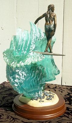 Surfing Surfer Sculpture Statue  by Phil Roberts