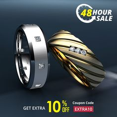 Hurry....! Exclusive 48 HOUR SALE  Shop mens diamond wedding band and GET EXTRA 10% OFF.