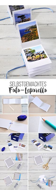 Schon mal deine Fotos so richtig sortiert, ausgedruckt und Erinnerungen festgeha… Have you ever sorted your photos, printed them and remembered your memories? With this DIY for a photo-leporello, it's easy to make! Diy Photo, Diy Album Photo, Album Diy, Photo Craft, Ideas Scrapbook, Handmade Scrapbook, Memories Box, Diy Presents, Diy Gifts