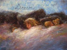 Dream Original Oil Painting 11X14 sleeping blond children bedroom paintings sleeping children napping by VickieWadeFineArt on Etsy https://www.etsy.com/listing/205855840/dream-original-oil-painting-11x14