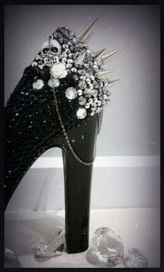 not to this extent but spikes up the back of the heels would be awesome