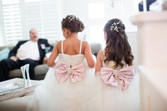 Bridesmaid Bow Dresses | Belvedere Banquets | Clicking Through Life Photography } Wedding Guide Chicago