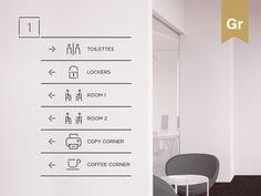 Signage on Behance Floor Signage, Hotel Signage, Hospital Signage, Guide System, Wayfinding Signs, Sign System, Office Branding, Office Space Design, Co Working