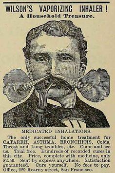 This vaporising inhaler from 1887.
