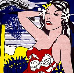 Roy Lichtenstein 1962 - ALOHA - Oil on canvas (173 x 173 cm)