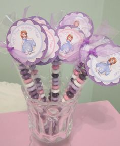 Sofia the first birthday Party Favors personalized by POPSnMORE, $16.00