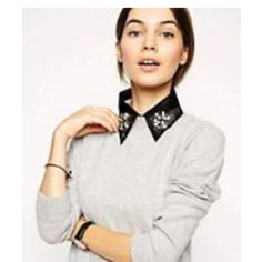 Black embellished collar Black embellished collar. Collar only. Can add to any shirt/sweater ASOS Other