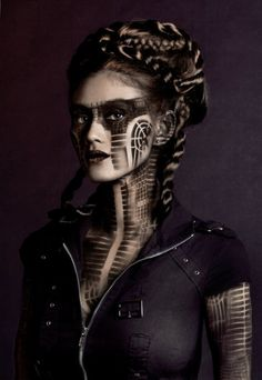 "darkbeautymag:  "" Photographer: Xue Vue  Body Painter: Michael Rosner of Eye Level Studio  Hair: Laura Milo  Model: Quira Beth  Retoucher: Gretchen Hilmers  """